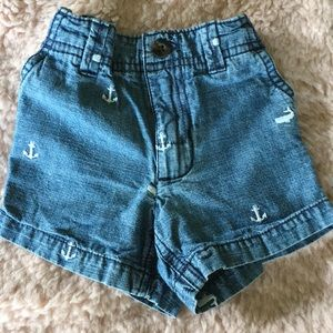 Carter's embroidered nautical themed shorts